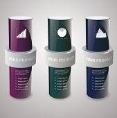 cylinder box mock-up. Vector illustration.?????? poster