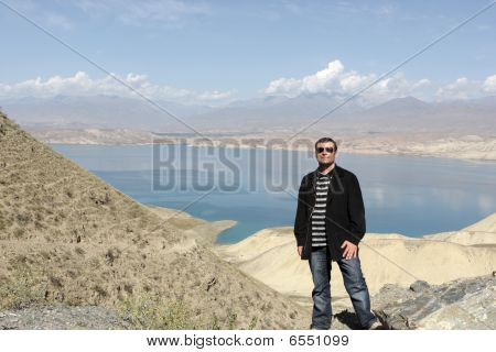 Tourist On Lake