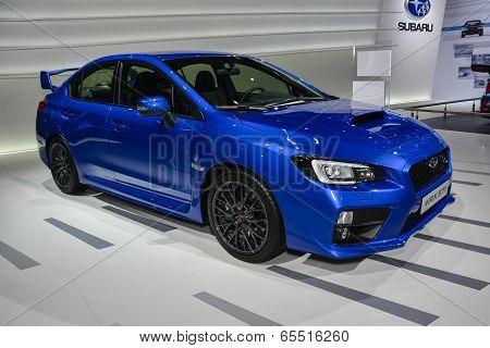 Subaru Wrx Sti  At The Geneva Motor Show