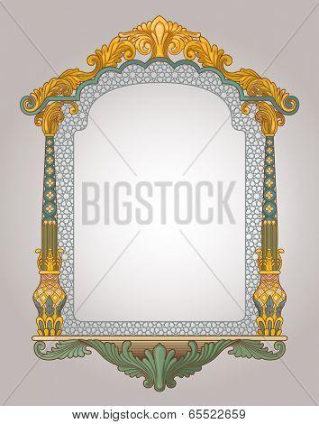 Vector illustration of decorative frame