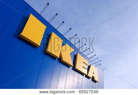 Samara, Russia - March  9, 2014: Sign Ikea At Ikea Samara Store. Ikea Is The World's Largest Furnitu