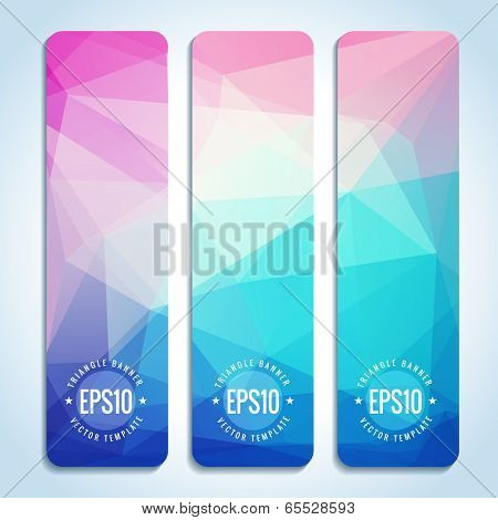 Set of blue pink website banner templates
