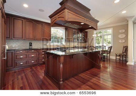 Kitchen With Island Stove