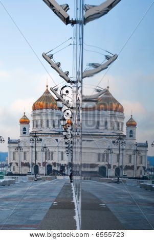 Reflection Of Cathedral Christ The Savior