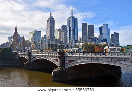 Melbourne City From South Bank.