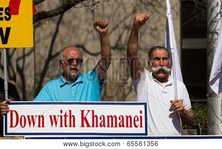 Free Ashraf's Hostages Sign