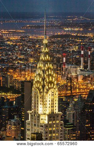 Facade Of The Chrysler Building In The Nigh