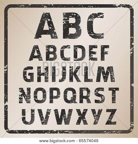 Rubber Stamp Font Set