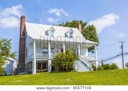 Old Traditional Farm House With Typical Balcony