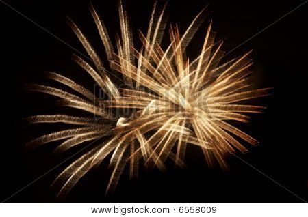 Abstract image of the explosion - fireworks poster