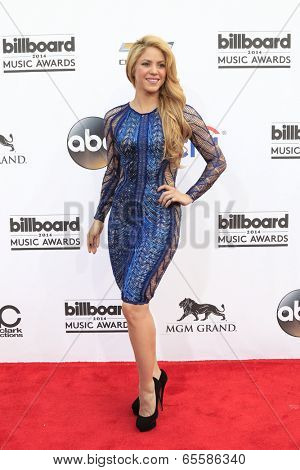 LAS VEGAS - MAY 18:  Shakira at the 2014 Billboard Awards at MGM Grand Garden Arena on May 18, 2014 in Las Vegas, NV