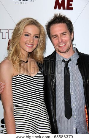 LOS ANGELES - MAY 22:  Saxon Sharbino, Sam Rockwell at the