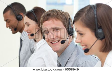 Business People With Headset On