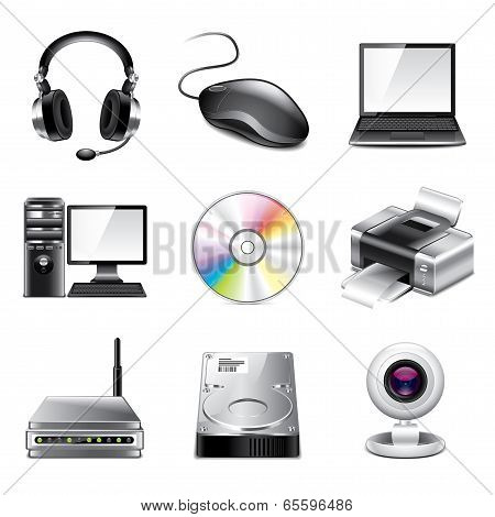 Computer Icons Photo-realistic Vector Set