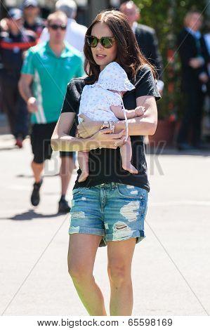 Tamara Ecclestone in Monaco with her baby