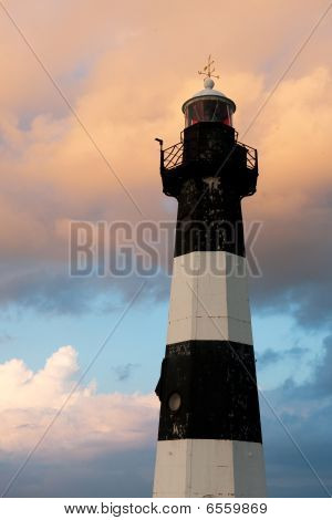 Lighthouse By Sunset