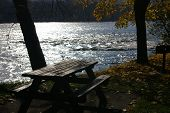 McKee's Rocks picnic area on the Susquehanna River, Pennsylvania poster