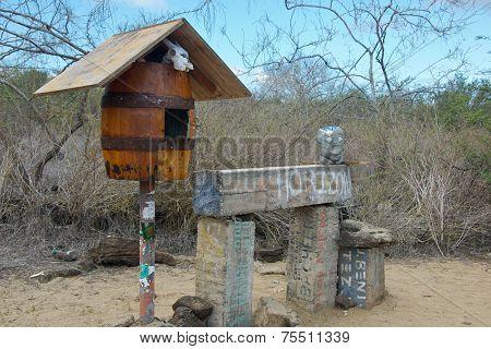 Post Office Bay in Floreana Island, Galapagos Islands