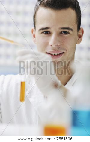 Young Scientist In Lab