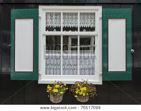 Window With Shutters In Marken
