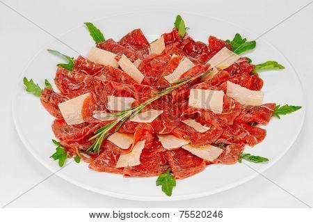 Carpaccio With Parmesan Cheese