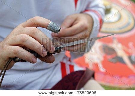 Artisan's hands (close-up)
