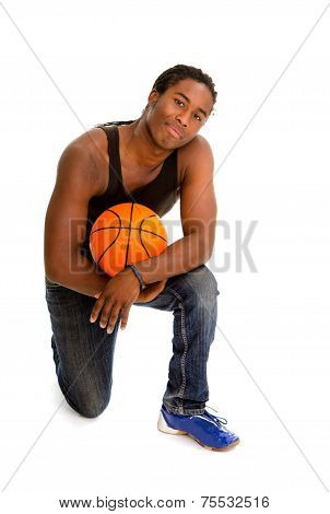 Male Street Basketball Player