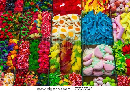 Delicious Candies with different colors