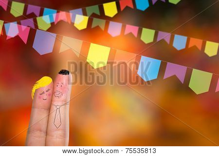 Festa Junina Party with this lovely finger couple