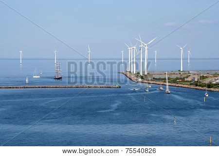 Copenhagen Wind Farm and Harbour