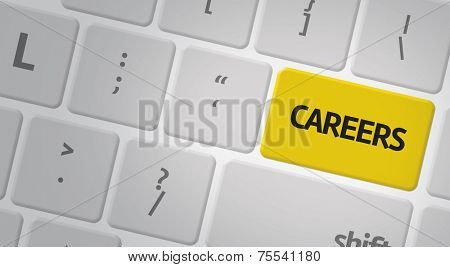 Computer keyboard with word Careers