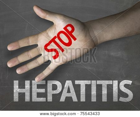 Creative composition with the message Stop Hepatitis