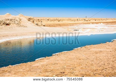 Chott El Djerid, Salt Lake In Tunisia