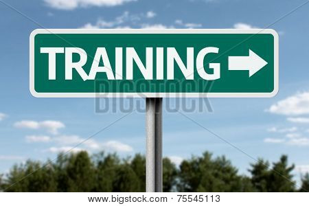 Training creative sign