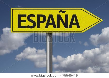 Concept for travel subject - Espa�±a yellow sign