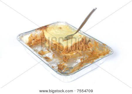 Tv-dinner Lasagna Almost Eaten