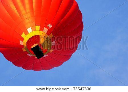 Hot Air Balloon. Bottom View