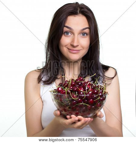 Woman With Cherries
