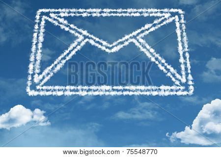 Amazing Mail shape on clouds