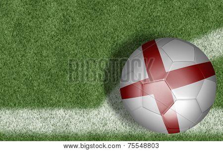 Amazing soccer ball of England on the corner