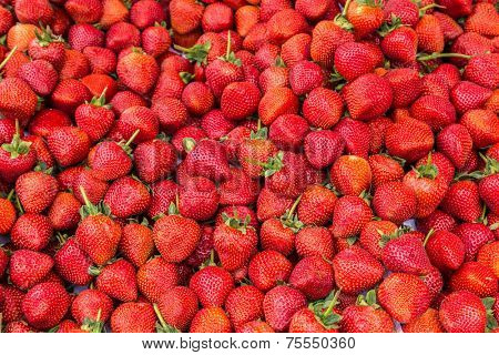 Background with Delicious strawberry