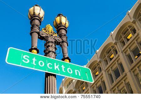 Stockton Street in San Francisco California
