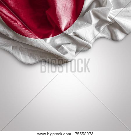 Waving flag of Japan, Asia
