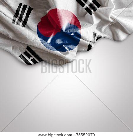 Waving flag of South Korea, Asia