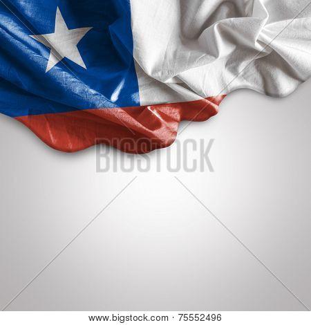Waving flag of Chile, Latin America