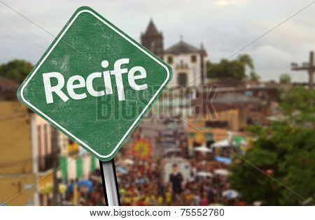 Recife Sign on Downtown, Brazil
