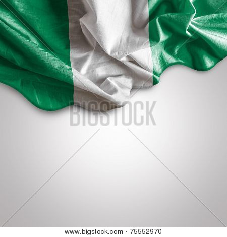 Waving flag of Nigeria, Africa