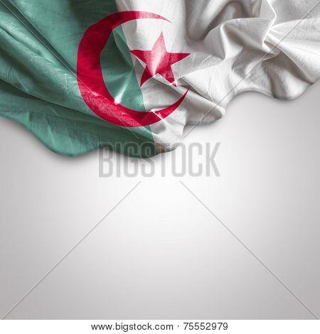 Waving flag of Algeria, Africa