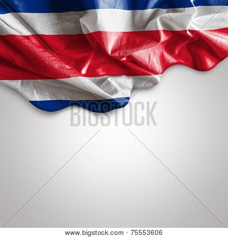 Waving flag of Costa Rica, Central America