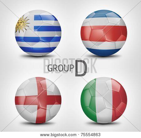 Group D - Uruguay, Costa Rica, England, Italy (Brazil)